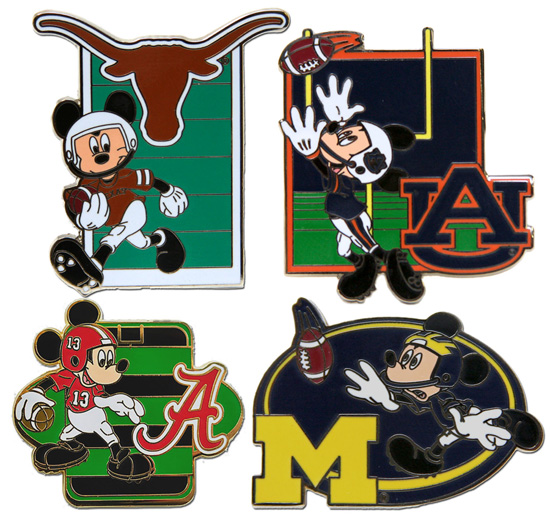 NCAA College Football Disney Pins