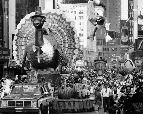 Donald Duck Marks His 50th Birthday in Macy's Thanksgiving Day Parade, 1984 (Courtesy of Getty Images)