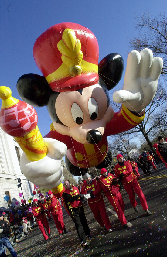 In 1934 Mickey Debuts in the Macy's Thanksgiving Day Parade