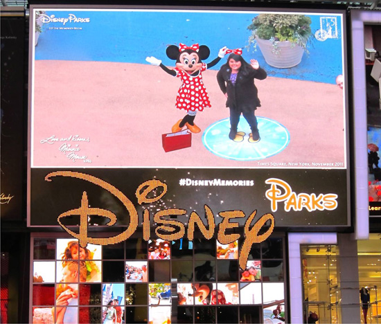 Disney Characters Make Virtual Memories in Times Square