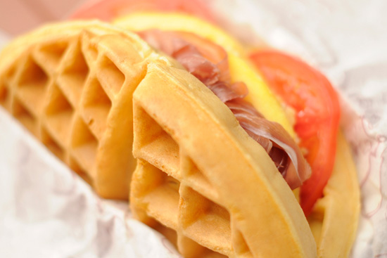 Prosciutto Egg Omelet Waffle Sandwich Available at Magic Kingdom Park