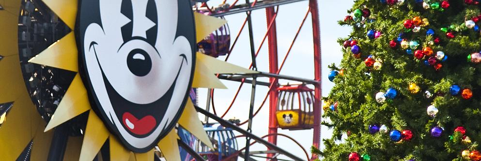 Celebrating the Holidays at Mickey's Fun Wheel at Disney California Adventure Park