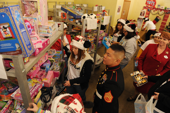 Disney VoluntEARS Deliver Toys to the U.S. Marine Corps Reserves Central Florida Toys for Tots Headquarters