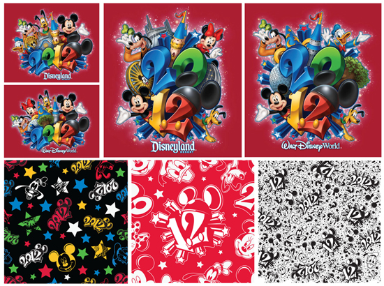 Artwork Featured on 2012 Merchandise at Disney Parks