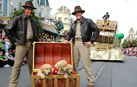 Actors Pose with the Stars of the Upcoming Disney DVD and Blu-ray film, 'Treasure Buddies'