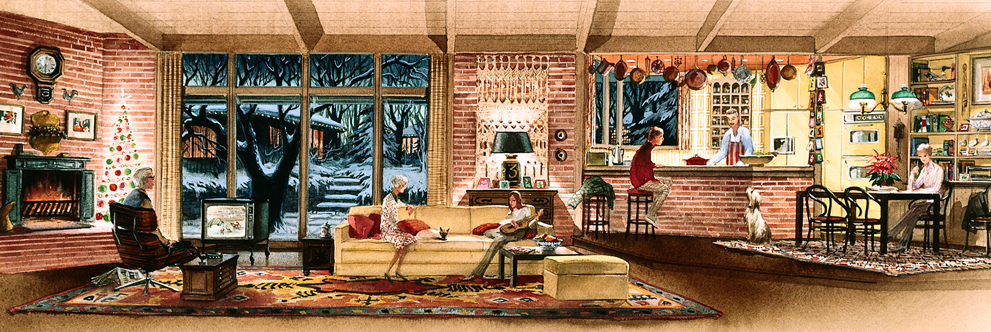 Walt Disney's Carousel of Progress at Magic Kingdom Park, Dorothea Redmond, 1973