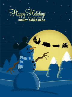 Mickey Mouse Joy Riding in Santa's Sleigh iPhone/Android Wallpaper