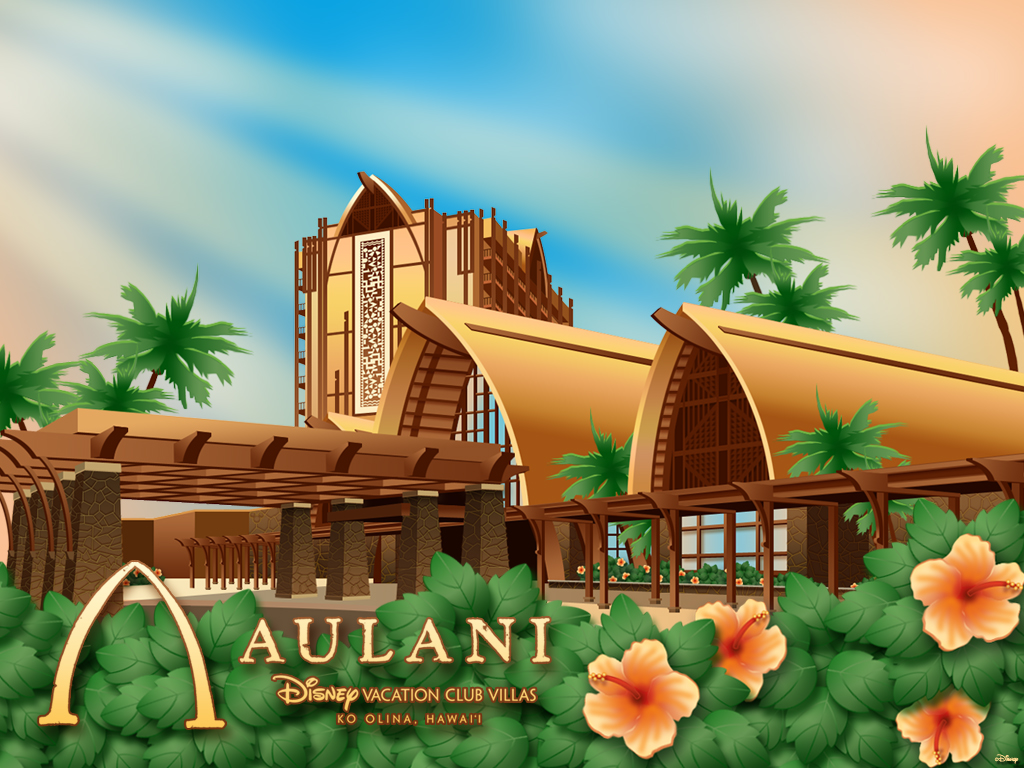 Desktop Wallpaper Featuring Aulani, Disney Vacation Club Villas, Ko Olina, Hawai'i