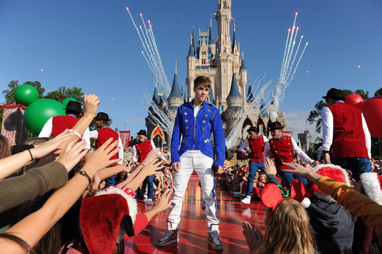 Justin Bieber at Walt Disney World Resort Taping of 'Disney Parks Christmas Day Parade'