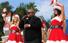 Cee Lo Green performs 'This Christmas' at Magic Kingdom Park.