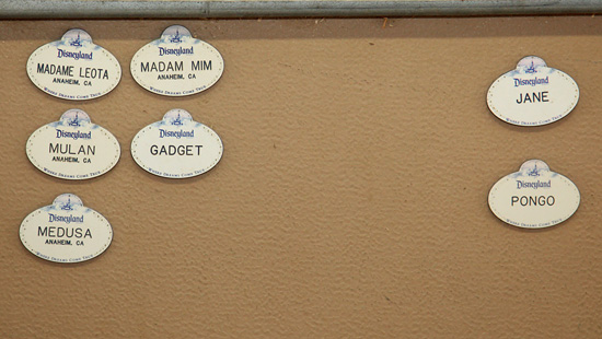 Cast Member Name Tags for the Goats at Circle D Corral at Disneyland Resort