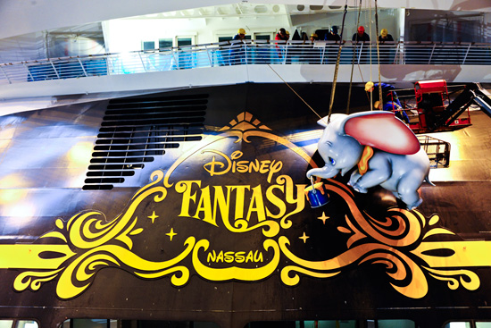 Dumbo Adorns the Stern of the Disney Fantasy