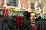 Mickey Mouse Waves to Guests During the Magic Kingdom Welcome Show at Walt Disney World Resort
