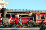 The Walt Disney World Railroad Arrives During the Magic Kingdom Welcome Show at Walt Disney World Resort