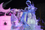 Cinderella Ice Sculpture, Featured in the Interpretation of Disneyland Paris Enchanted Christmas for the 10th International Snow & Ice Sculpture Festival in Bruges, Belgium