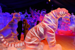 Shere Khan from 'The Jungle Book' Ice Sculpture, Featured in the Interpretation of Disneyland Paris Enchanted Christmas for the 10th International Snow & Ice Sculpture Festival in Bruges, Belgium