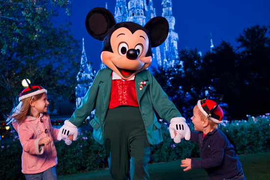 Mickey Mouse Celebrates the Holidays at Walt Disney World Resort