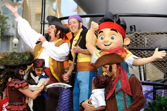 The Never Land Pirate Band at Walt Disney World Resort Taping of 'Disney Parks Christmas Day Parade'