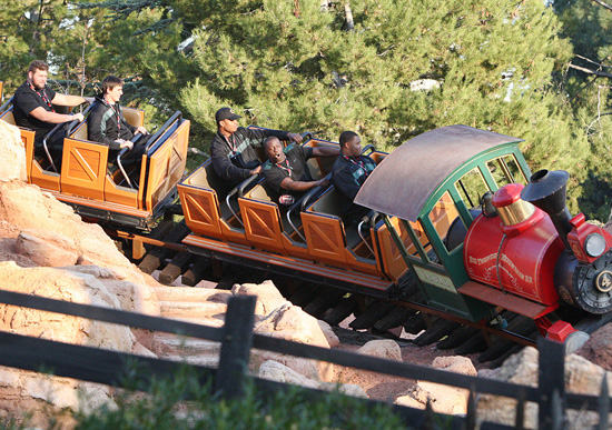 Oregon Ducks Visit Disneyland Park