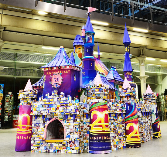 Artist Creates Disneyland Paris Sleeping Beauty Castle with 50,000 Folds of Paper