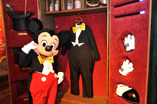 Mickey Mouse at a Meet-and-Greet Experience at Magic Kingdom Park