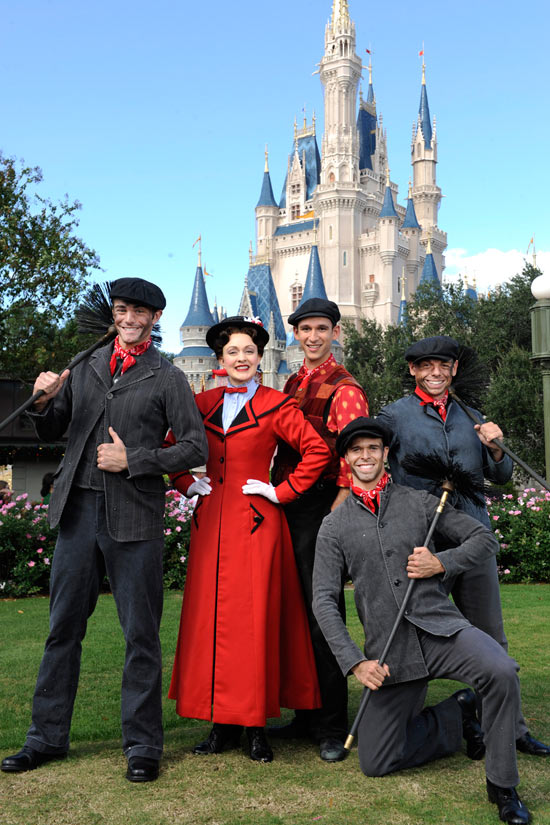 Mary Poppins and Bert at Walt Disney World Resort Taping of 'Disney Parks Christmas Day Parade'