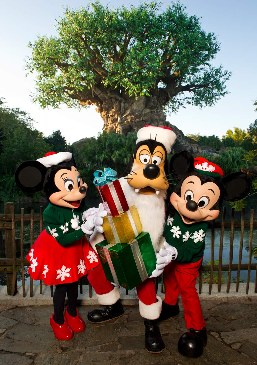 ... and Mickey Mouse Celebrating the Holidays at Walt Disney World Resort