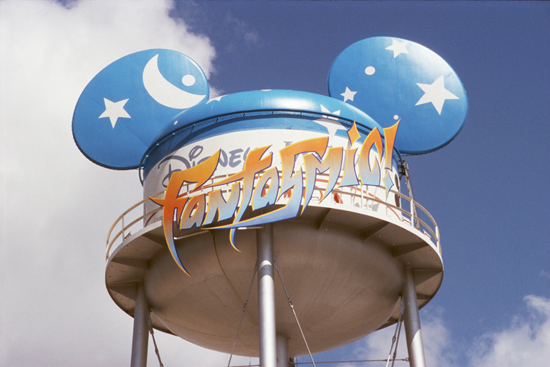 Earffel Tower at Disney's Hollywood Studios Altered to Celebrate the Premiere of Fantasmic!
