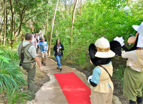 Guests Cassie and Lucas Dillinger from Beaver Falls, Pa., Were First to Walk the Red Carpet Celebrating the Wild Africa Trek's 15,000th Guest
