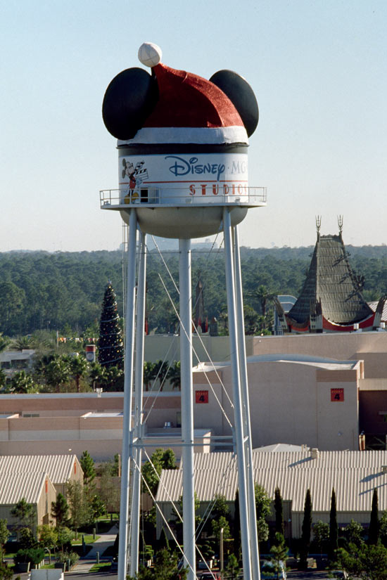 The Earffel Tower During the Holidays at Disney's Hollywood Studios