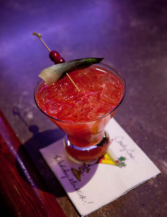 Red-Nosed Zebra Drink Available for the Holidays at Trader Sam's – Enchanted Tiki Bar at the Disneyland Hotel