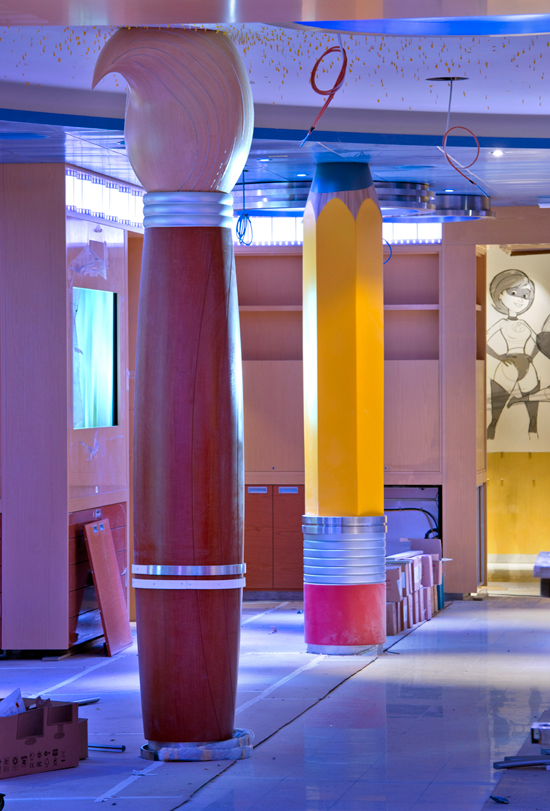 Animator's Palate Restaurant, Home to the New 'Animation Magic' Show Aboard the Disney Fantasy