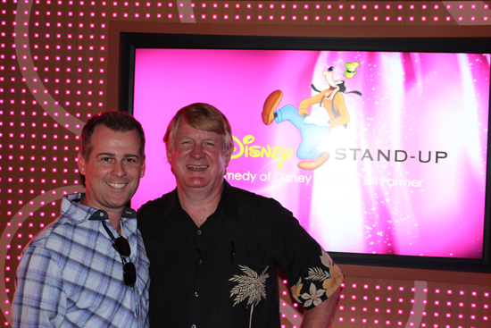 Ryan March with Disney Legend Bill Farmer, the Voice of Goofy