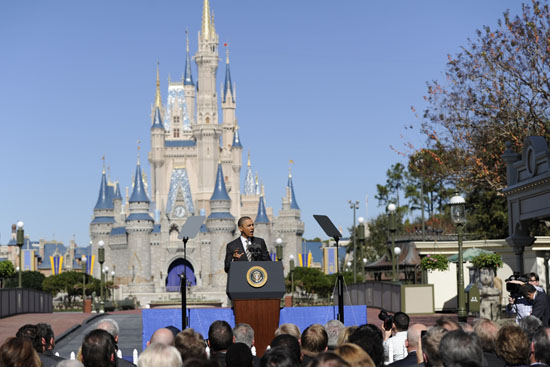Speaking to a crowd at Walt Disney World Resort, President Barack Obama unveiled plans to increase international visitation and make the United States the worlds top travel destination.