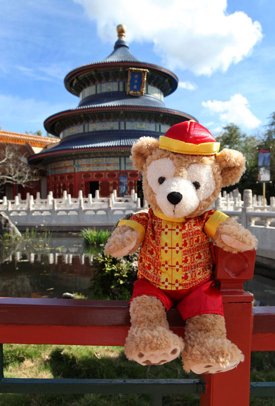 Duffy the Disney Bear China Costume