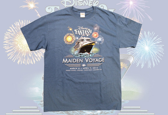 Tee-Shirt Available for Pre-Sell for Guests Sailing on the Maiden Voyage of the Disney Fantasy