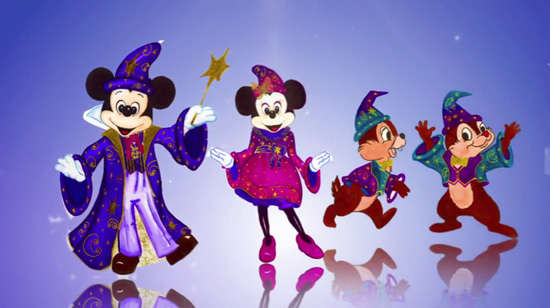 Mickey, Minnie and Some of Your Favorite Disney Characters in Redesigned Costumes for the New Disney Magic on Parade at Disneyland Paris