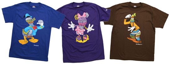 Word Character T-Shirts Arriving this Spring at Disney Parks