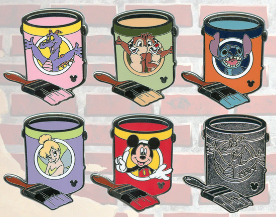 New Hidden Mickey Pin Series Coming to Walt Disney World Resort in 2012, Featuring Disney Characters on Paint Cans