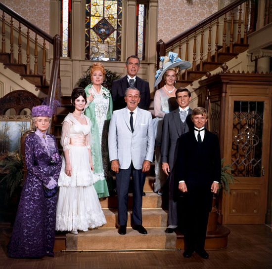 The Cast of 'The Happiest Millionaire' with Walt Disney