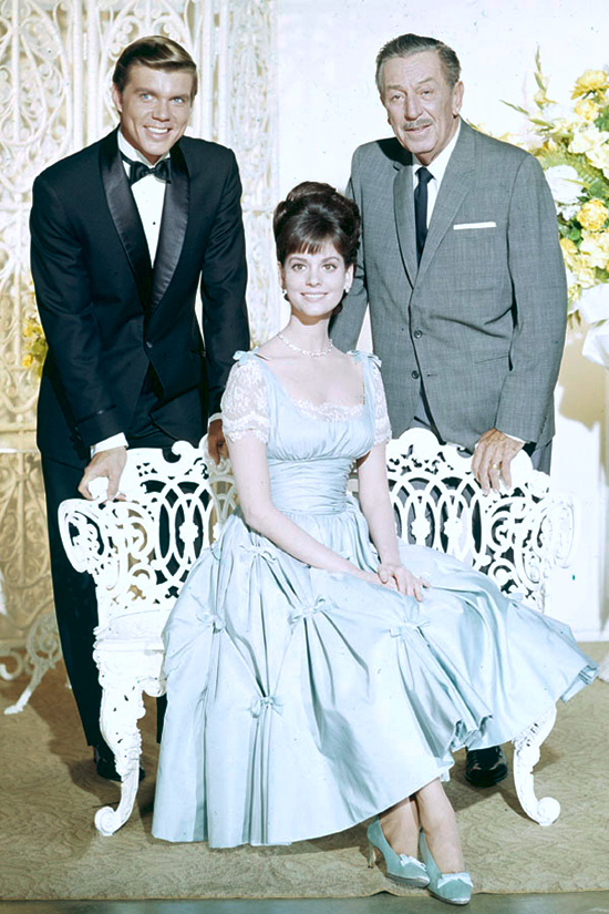 John Davidson and Lesley Ann Warren Pose with Walt Disney