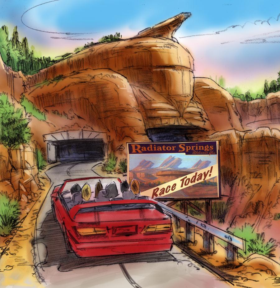 Radiator Springs in Cars Land