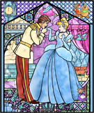 Cinderella Stained Glass Window on the Façades of 'it's a small world' at Disneyland Park and Cinderella Castle at Magic Kingdom Park as Part of 'The Magic, The Memories and You!'