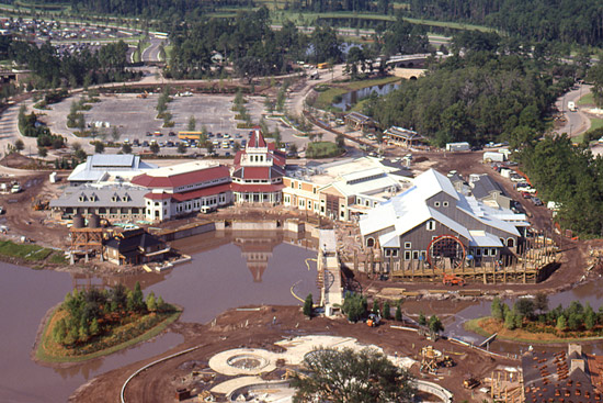 Disney's Port Orleans – Riverside Resort Under Construction in 1991 at Walt Disney World Resort
