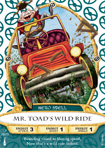 Mr. Toad's Wild Ride Card, Part of the Sorcerers of the Magic Kingdom Game at Walt Disney World Resort