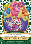 The Woozles' Woozle Nightmare Card, Part of the Sorcerers of the Magic Kingdom Game at Walt Disney World Resort