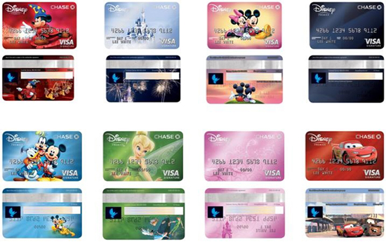Disney's Premier Visa Credit Card from Chase Offers Eight New Designs to Members