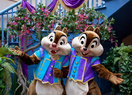 Chip 'n' Dale Celebrate the New Orleans Bayou Bash at Disneyland Park