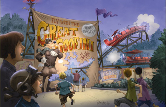 The Great Goofini Rendering Coming to New Fantasyland in Magic Kingdom Park