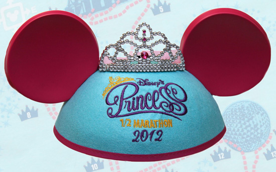 Ear Hat for Disneys Princess Half Marathon at Walt Disney World Resort